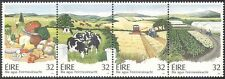 Ireland 1992 Farming/Food/Agriculture/Cattle/Crops/Tractor/Transport 4v (n14325)
