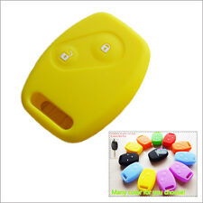 Car key silicone shell cover case Honda Accord Civic Fit CRV Odyssey CITY Yellow