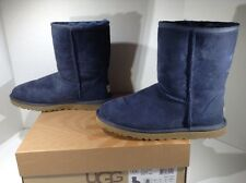 UGG Australia Womens Classic Short Blue Winter Ankle Boots Shoes Size 8 ZE-2120