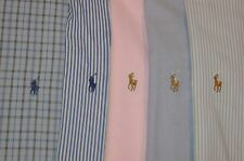 Lot of 5 Polo Ralph Lauren Mens 16-16.5- 34/35 PONY LOGO  COLORFUL L/S Shirts