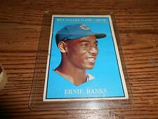 Ernie Banks Topps 1959 MVP Card HOF Good Condition #485 Chicago Cubs