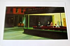 "EDWARD HOPPER POSTER REPRINT OF ""NIGHTHAWKS"" PAINTING   14X11"" FAMOUS SCENE"