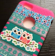 iPhone 6+ / 6S+ Plus - HYBRID HIGH IMPACT ARMOR CASE AZTEC FLORAL OWLS