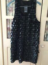 SIZE 10 MISS SELFRIDGE BLACK DISC DRESS PARTY/CLUBBING/TOWIE RRP £70