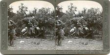 RELISTIC TRAVEL BRITISH WWI STEREOVIEW GUNNERS APPROACHING TAUBE AIRPLANE SHELLS