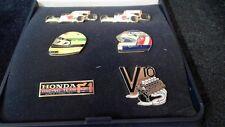 Honda F1 Pin Set Badge Collection Formel 1 6 Stück in Etui selten und rare