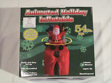 "NEW 54"" AIRBLOWN ANIMATED SANTA SNOWMAN REINDEER PRESENT INFLATABLE OUTDOOR YARD"