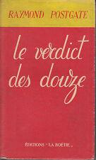 C1 Raymond POSTGATE Le VERDICT DES DOUZE 1946 Verdict of Twelve EPUISE