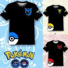 Pokemon Go Team Valor Team Mystic Team Instinct Pokeball Nerd Anime T-Shirt Tee