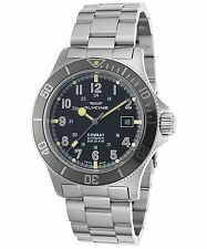 Glycine Men's 3908.191AT.GD.MB Combat Sub Automatic 42mm Black Dial Watch