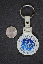 VTG GE General Electric Light Bulb Great Deal Plastic Keychain Key Ring #17053
