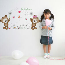 Love Baby Bear Removable Wall Stickers Decal Mural Vinyl Nursery Kids Room Decor