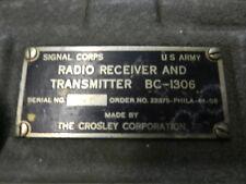 BC-1306 SIGNAL CORP WWII 1945  FIELD RADIO BC1306