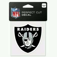 OAKLAND RAIDERS PERFECT CUT DECAL 4X4 FOR WINDOWS CORN HOLE LAPTOP COVERS