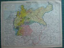 HISTORICAL MAP ~ GERMANY 1815-1914 SAXONY THURINGIA CONFEDERATION GERMAN EMPIRE