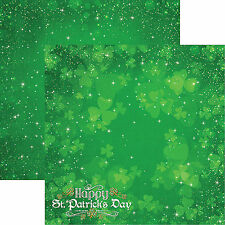 Reminisce LUCKY MAGIC 12x12 Dbl-Sided (2pc) Scrapbooking Paper ST PATRICK'S DAY