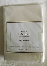 NWT Pottery Barn Ivory Small Underbed Basket Liner for Havana & Savannah Baskets