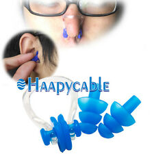 New Waterproof Soft Silicone Swimming Set Nose Clip + Ear Plug Earplug With Box