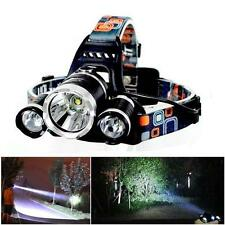 20000Lm 3x CREE XM-L T6 LED Flashlight Rechargeable Headlamp Headlight Torch FT