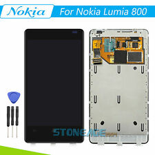For Nokia Lumia 800 LCD Display Touch Screen Digitizer - Frame Complete Assembly