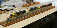 """O Gauge/Scale 66"""" Model Train Display Case With Track"""