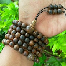 SWEET!! 8 MM Agarwood Buddhist Prayer 108 beads Japa Mala Zebra Root Aloeswood