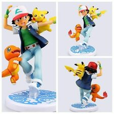 Pokemon go Action Figure Toy Nendoroid Ash Ketchum Pikachu Charmander model gift