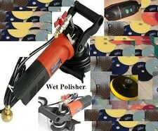 "4"" Variable Speed Wet Polisher Grinder Lapidary Tile Marble Stone Granite quartz"