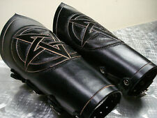 LEATHER GAUNTLETS. BLACK METAL (MDLG0166)..... HECATE ENTHRONED'S