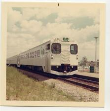 GO Transit Train Pickering Ontario Canada Vintage 1968 Color Photo Railroad