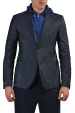 Prada Men's Two Button Blazer Sport Coat With Detachable Hood US 40 IT 50