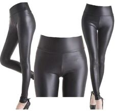 *****BLACK  HIGH WAISTED WET LOOK LEGGINGS SIZE SMALL - BNWT****
