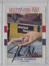 1991 Impel card #18 signed by swimmer ~ John Naber