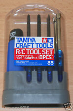 Tamiya 74085 R/C Tool Set (8 Pcs.) for Radio Controll Cars, Trucks and Tanks NIP