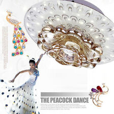Peacock Crystal Fixture Ceiling Light Pendant Lamp + LED Lighting Chandelier 1pc