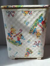 Vintage Redmon Clothes Hamper Laundry Bin Peppermint Kids Christmas (926)
