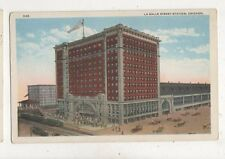 La Salle Street Station Chicago USA Vintage Postcard 936a