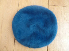 MONSOON ACCESSORIZE ANGORA RICH BLEND TEAL HAIRY BERET HAT NEW UNWORN