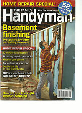 THE FAMILY HANDY MAN,   JUNE, 2013 ( HOW TO BUY THE RIGHT RIDING MOWER )