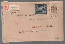 1943 Dual censored Budapest Hungary Cover to Nice France