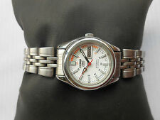 RARE VINTAGE WHITE DIAL SEIKO JAPAN MILITARY STYLE LADIES AUTOMATIC WRITSWATCH