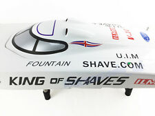 """50"""" 26CC 2.4G Radio Remote Control G26IP1 High Speed Gas RC Racing Boat White"""