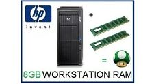8 Gb (2x4 Gb) Ddr3 Ecc Rdimm Memoria RAM upgrade Hp Z600 Workstation C2 Junta sólo