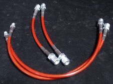 82-89 Porsche 944 Stainless Steel Hose Brake Line FRONT+REAR Set (Red)