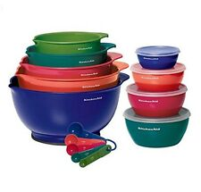 KitchenAid Food Mixing and Prep Bowls with Lids, 18-Piece Set, Multi-Color