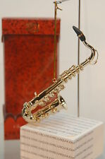 SAXOPHONE TENOR~MUSICAL INSTRUMENT ORNAMENT~NEW~BOX~FREE SHIPPING IN THE US~