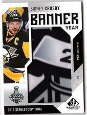 Sidney Crosby 2016-17 16-17 UD SP Game Used Hockey Stanley Cup Final Banner Year