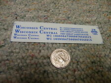 Herald King decals HO Wisconsin Central Great Lakes Route blue  XX38