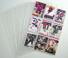 1990-2011'S LOT OF 9 HOCKEY CARDS + 8 UNUSED REFILLS FOR COLLECTORS ALBUM