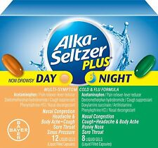 Alka-seltzer Plus Day & Night Cold and Flu Liquid Gels, 20 Count